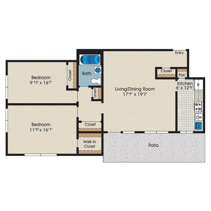 two-bedroom-apartment-with-patio-945SF